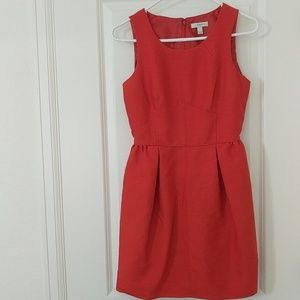 J.CREW • Fitted Feminine Dress, Red Dress